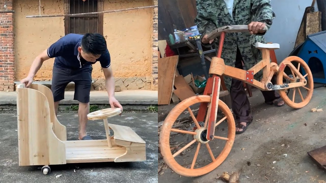 11 Creative Ideas Craft for DIY homemade ,Wooden Bicycle, Phone Case ...Use Bamboo and Wood