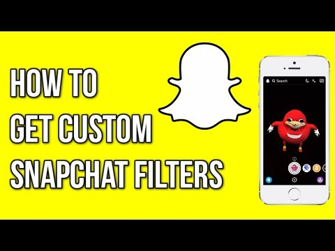 How to Get CUSTOM Snapchat Filters/Lenses! (iOS and Android