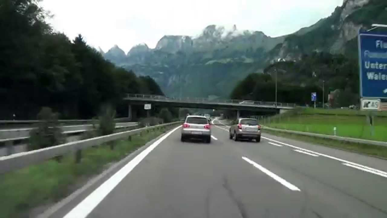 from flims to z rich schweiz autobahn a13 a3 2010 720p hd youtube. Black Bedroom Furniture Sets. Home Design Ideas
