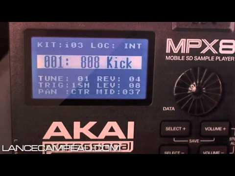 AKAI MPX8 Sample Player - Unboxing and quick demo review