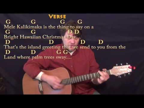 Mele Kalikimaka (Christmas) Guitar Cover Lesson in G with Chords/Lyrics
