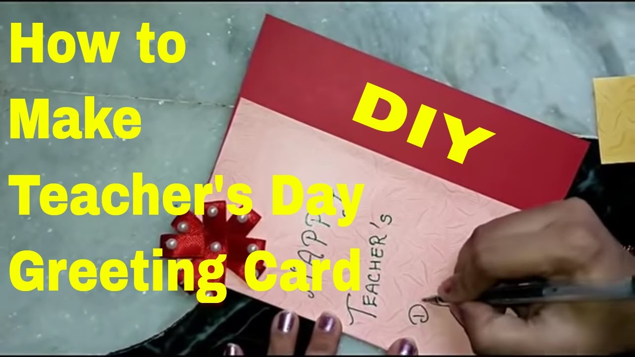 How to make teachers day greeting card youtube how to make teachers day greeting card kristyandbryce Image collections
