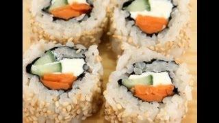 How To Make Sushi - Philadelphia Rolls