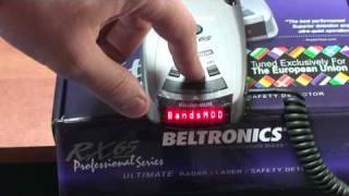 Detector de radar Beltronics RX 65 - Model 2010 - special pentru noile radare