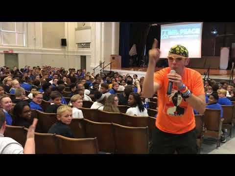 Mr. Peace Performs Rap at Jefferson County Traditional Middle School in Louisville, Kentucky