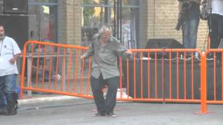 Old Man Dancing  Puts down the cane and goes all YODA!