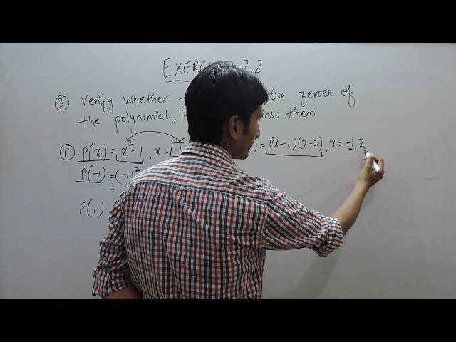 Exercise 2.2 - Question 3(iii ,iv) NCERT/CBSE Solution for Class 9th Maths Polynomials