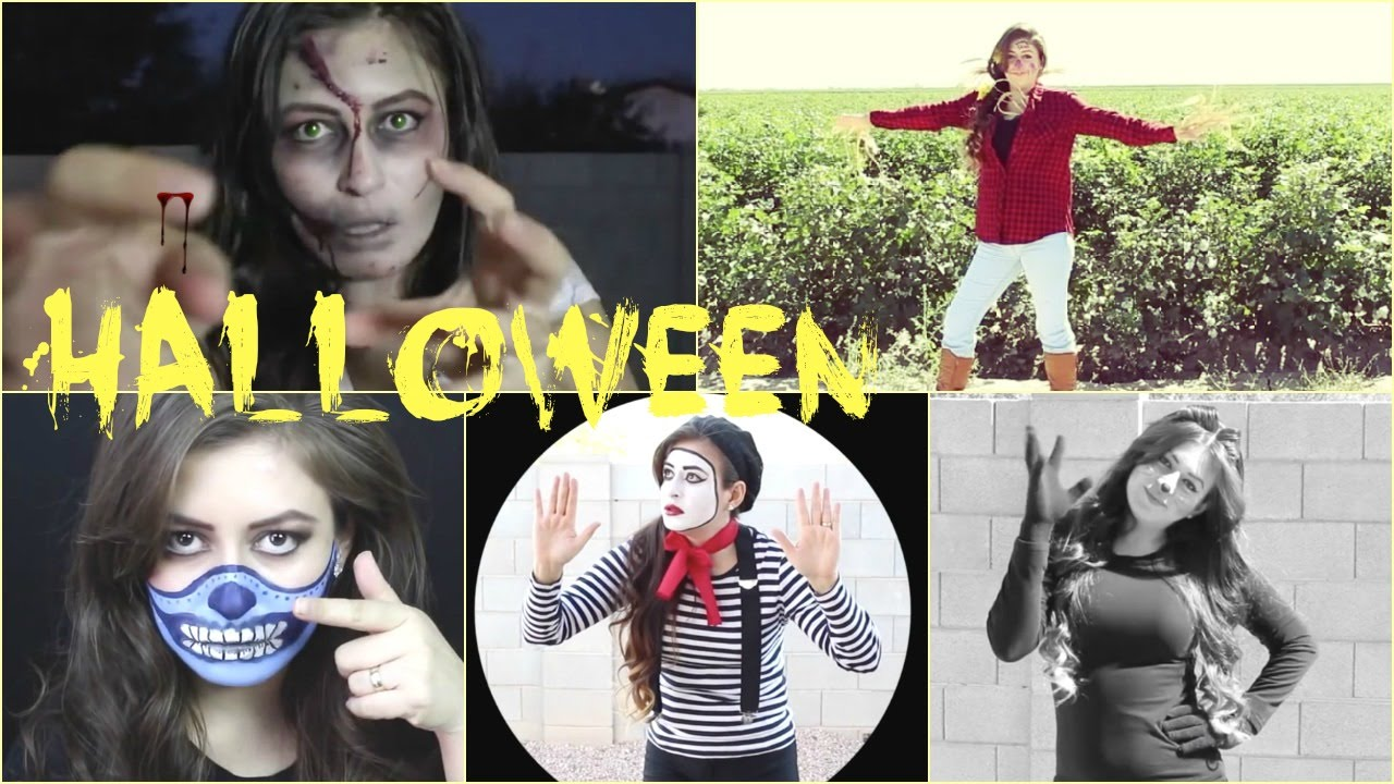 5 Disfraz Facil de Hacer Para Halloween a ultima hora YouTube