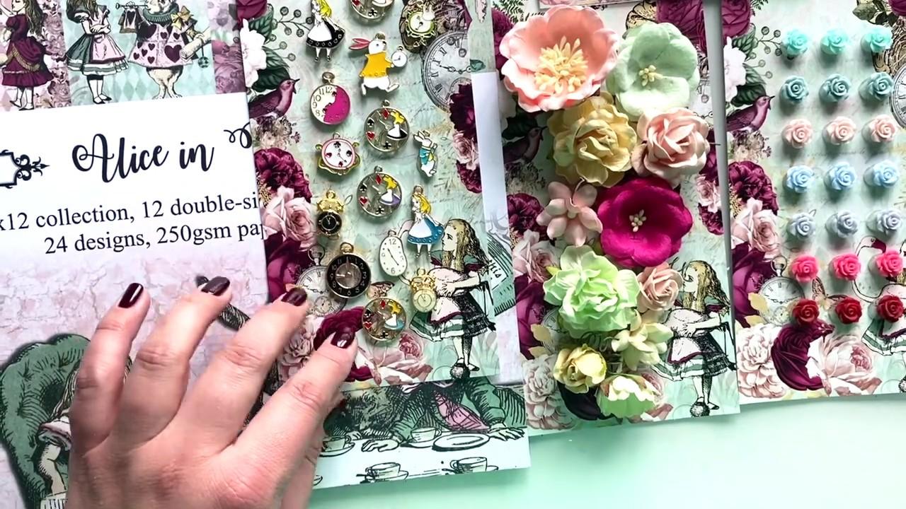 Alice in Wonderland Scrapbooking Kit by Craft Box