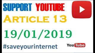 Article 13/ support youtube/what is article 13