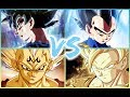 GOKU VS VEGETA  ( Power Levels all arcs )