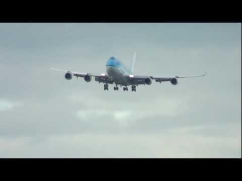 KLM Boeing 747-400 Combi landing at Toronto Pearson International Airport (YYZ)