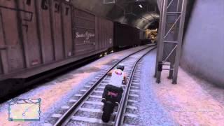 GTA 5 Train vs HUGE Dump Truck
