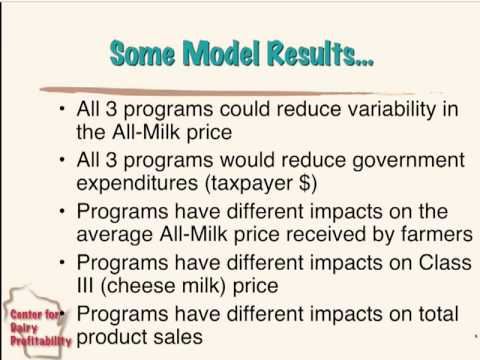 How milk production control plans compare: March 2011 Hoard's Dairyman Webinar