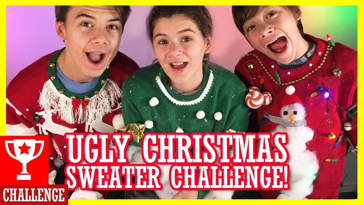 DIY UGLY CHRISTMAS SWEATER KIT CHALLENGE! | KITTIESMAMA LIVESTREAM ...