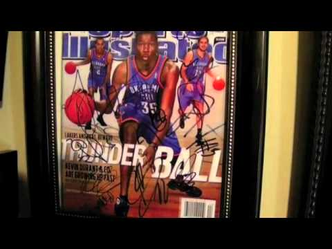 d3aaad43c Oklahoma City Thunder Autograph Collection Memorabilia Kevin Durant Russell  Westbrook NBA