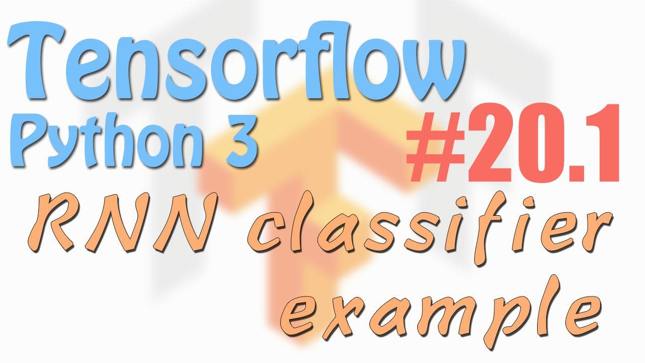 Tensorflow 20.1 RNN example using MNIST (neural network ...