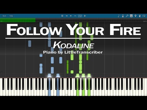 Kodaline - Follow Your Fire (Piano Cover) by LittleTranscriber