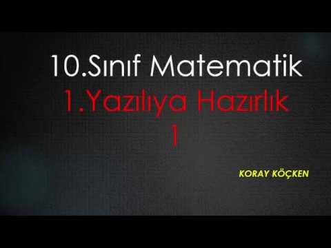 10. Sınıf Matematik 1. Dönem 1. Yazılıya Hazırlık 1