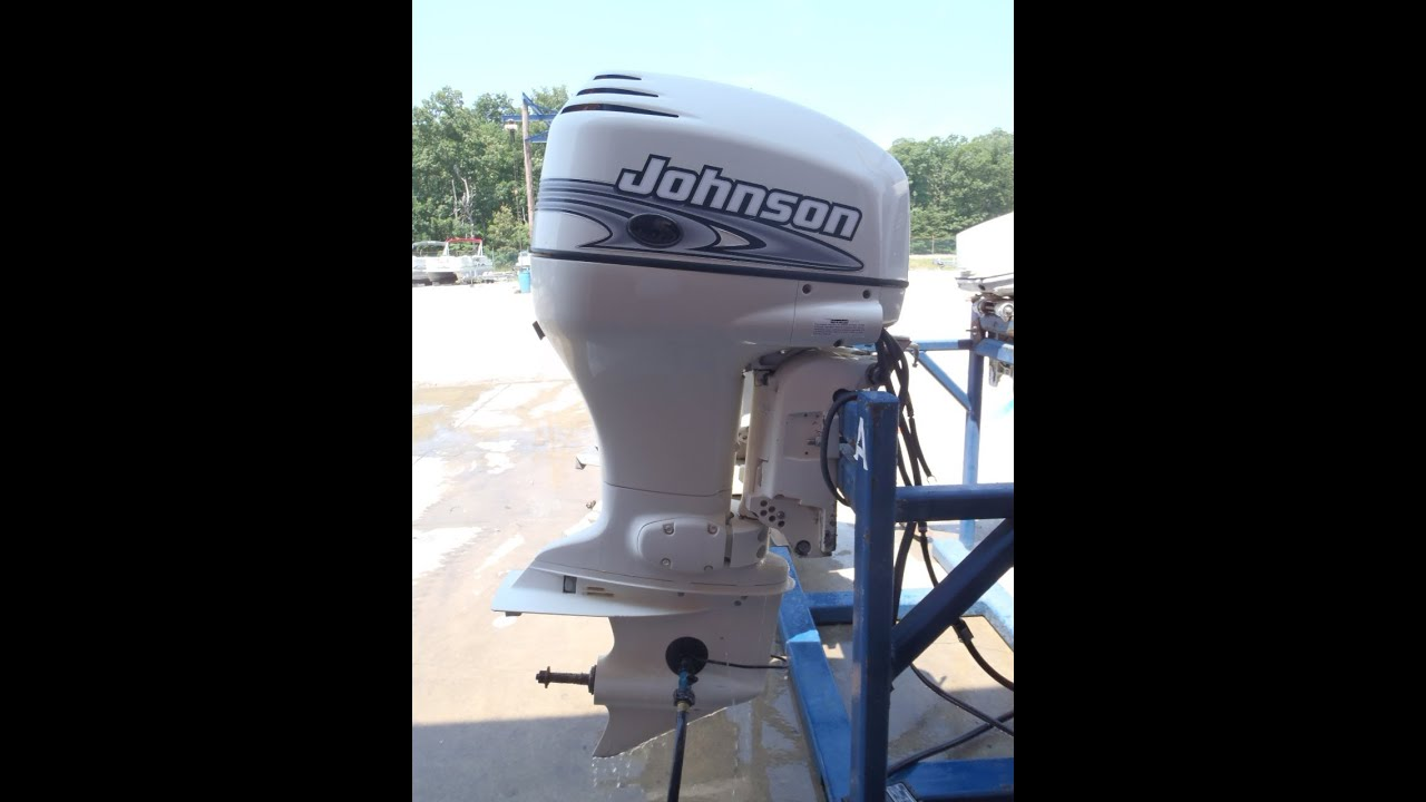 Used 2001 Johnson J90VLSIF 90HP 2-Stroke Outboard Boat Motor 20