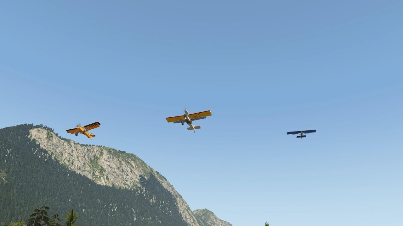 Formation flying at 0 mph ground speed in a Kitfox (Eurofox) DoubleEnder  and Aerolight  [XP11]