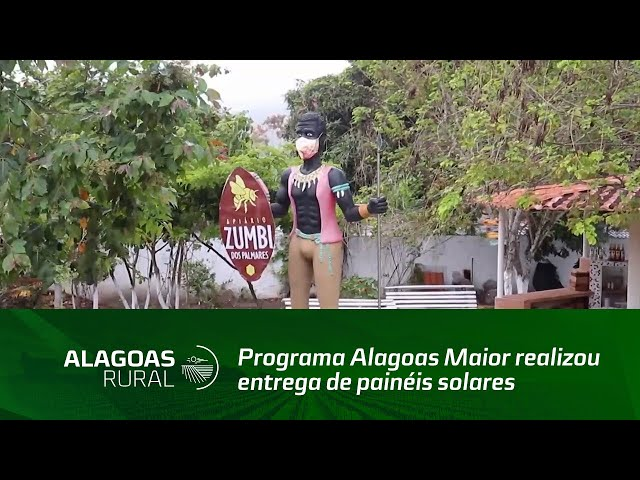 Programa Alagoas Maior realizou entrega de painéis solares para o Apiário Zumbi dos Palmares