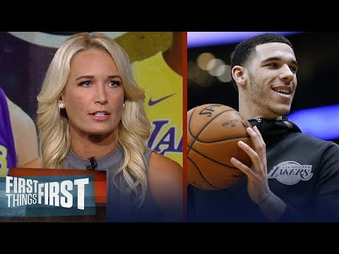 Sarah Kustok on expectations for Lonzo Ball's sophomore season | NBA | FIRST THINGS FIRST