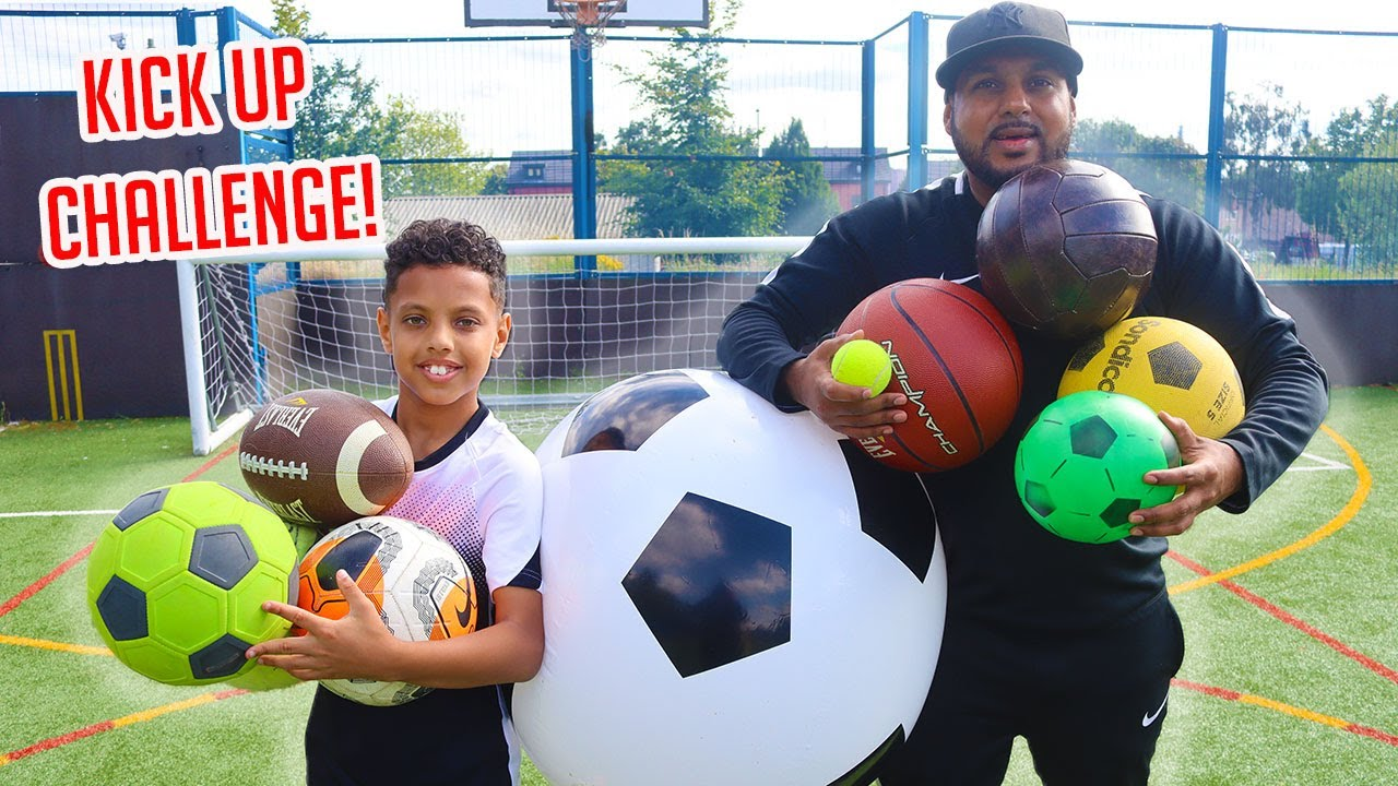 MULTI-BALL FOOTBALL CHALLENGE!! KICK UP EDITION!!