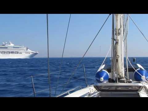 Sailing Yacht 'XL' Navigating the Straits of Messina, July 2016