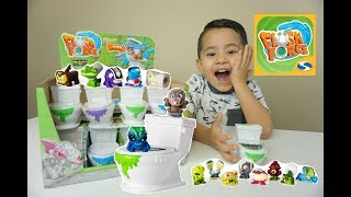 NEW FLUSH FORCE FLUSHIES TOY UNBOXING | SURPRISE TOILETS SERIES 1 by Spin Master