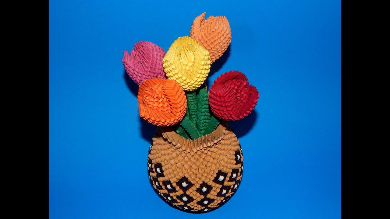 3d origami tulip flower tutorial youtube jeuxipadfo Gallery