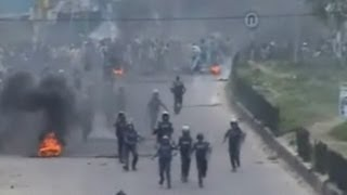 Bangladesh protest violence: Islamists clash with police in Dhaka