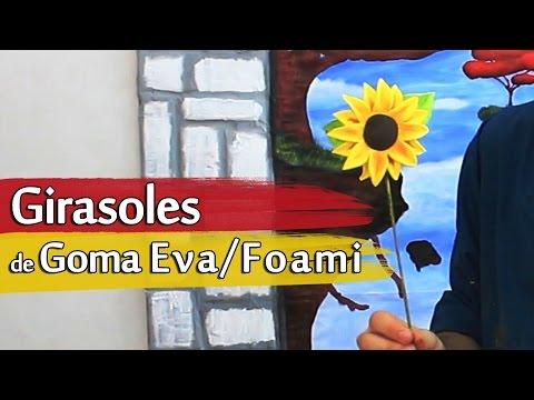 Cómo hacer Girasoles de Goma Eva o Foami | Arte Track