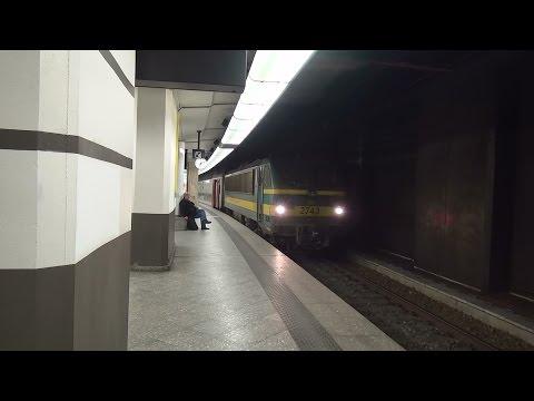 Compilatievideo van diverse treinen op station Brussel-Centraal | 17 maart 2016