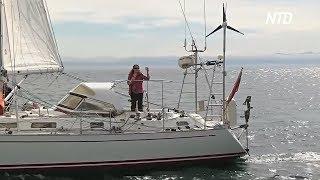 77-летняя британка в одиночку совершила кругосветное путешествие по воде