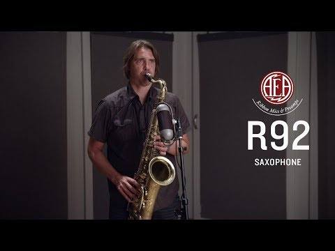 AEA R92 Front - Saxophone - Listening Library