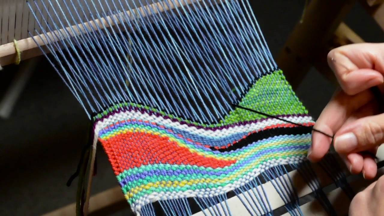 Tapestry Style Weaving On A Rigid Heddle Loom Part 2 Youtube