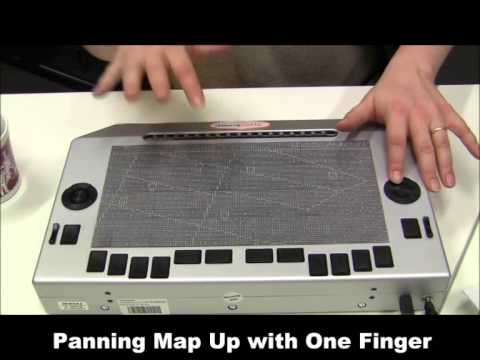 Audio-tactile maps on a Pin-arrayed display