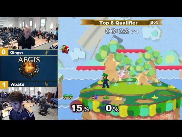 Aegis Top 64 - Abate (Luigi) vs Ginger (Falco)