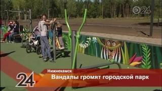 В Нижнекамске вандалы разрушили спортплощадки, построенные ко Дню города