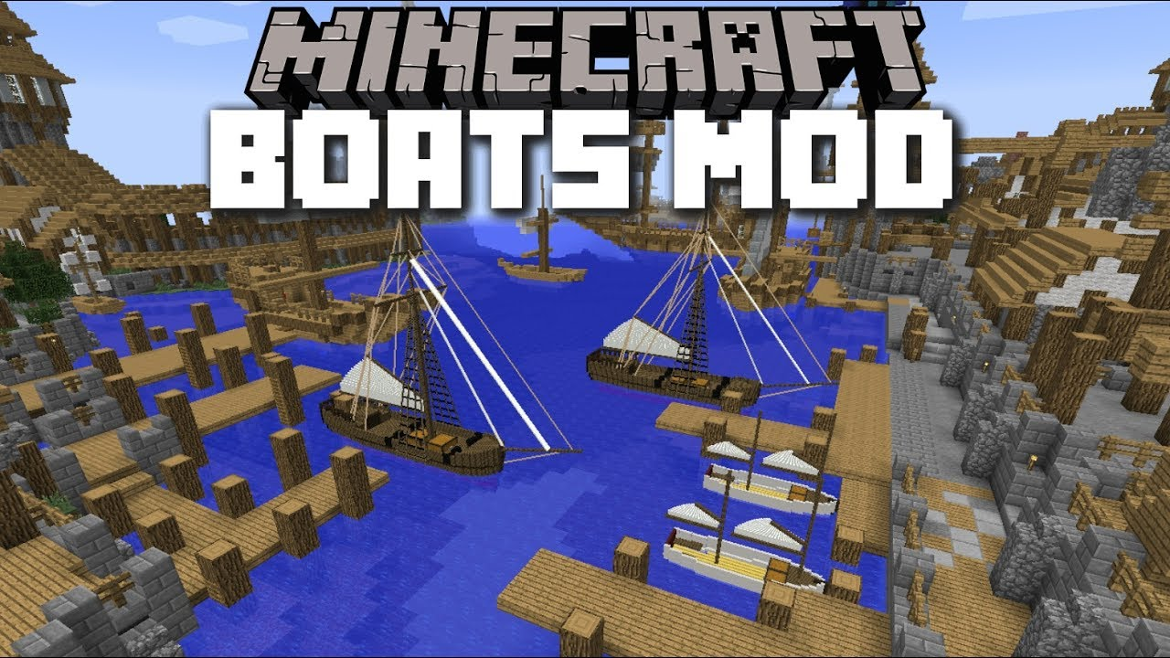 Minecraft SMALL BOATS MOD / TRAVEL AROUND IN BOATS AND EXPLORE!! Minecraft