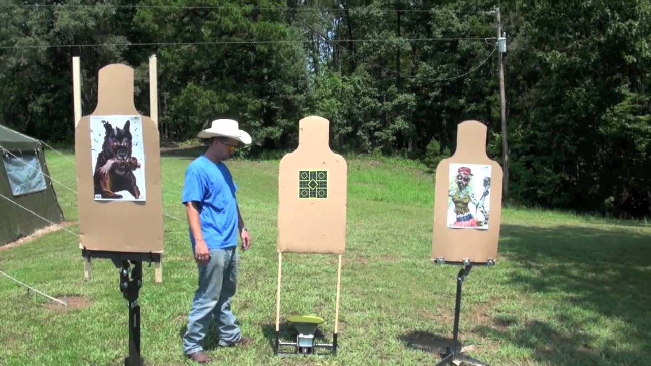 Colt Speed Plate Pop Up Shooting Target - YouTube