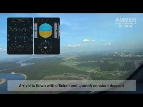 AMBER green flight video from the cockpit