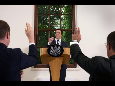 George Osborne tries to reassure the markets - video