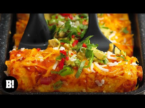 Cheesy 'Meaty' Enchiladas!
