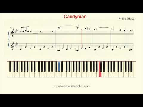 "How To Play Piano: Philip Glass ""Candyman"" Piano Tutorial by Ramin Yousefi"