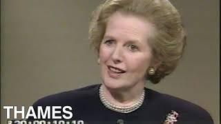Margaret Thatcher interview | Conservative Party | British Prime Minister | 1987