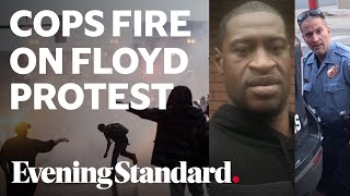 George Floyd video: Minneapolis police fire tear gas on protesters after black man killed in arrest