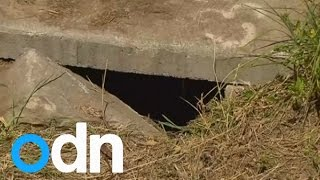 Newborn baby found alive at bottom of drain
