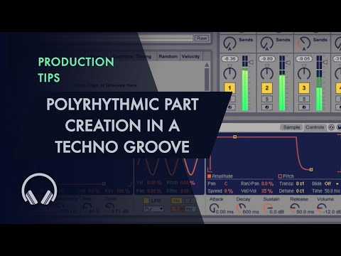 Polyrhythmic Part Creation in a Techno Groove - Sample Module
